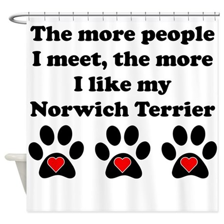 My Norwich Terrier Shower Curtain