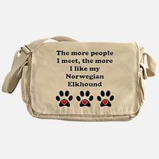 My Norwegian Elkhound Messenger Bag