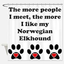 My Norwegian Elkhound Shower Curtain