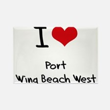 I Love PORT WING BEACH WEST Rectangle Magnet