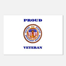 Proud Merchant Marine Veteran Postcards (Package o