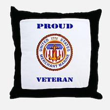Proud Merchant Marine Veteran Throw Pillow