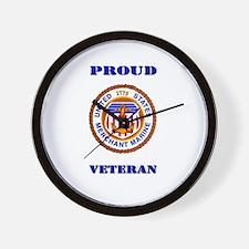 Proud Merchant Marine Veteran Wall Clock