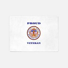 Proud Merchant Marine Veteran 5'x7'Area Rug
