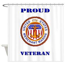 Proud Merchant Marine Veteran Shower Curtain