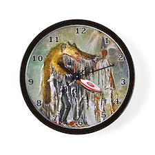 Bear Dance Medicine Man Wall Clock