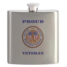 Proud Merchant Marine Veteran Flask