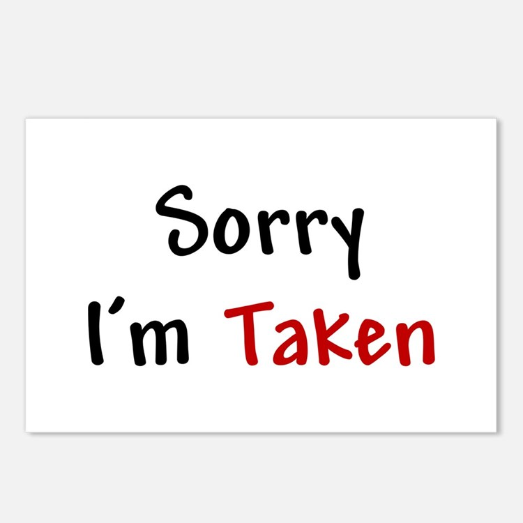 Sorry I'm Taken Postcards (Package of 8)