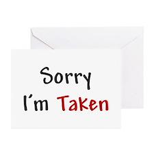 Sorry I'm Taken Greeting Cards (Pk of 10)