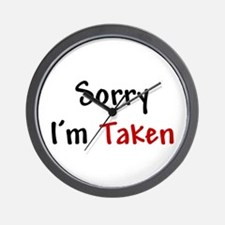 Sorry I'm Taken Wall Clock