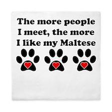 My Maltese Queen Duvet