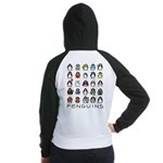 Lots of Penguins Women's Raglan Hoodie
