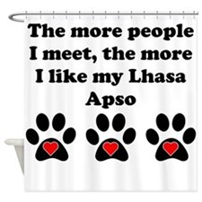 My Lhasa Apso Shower Curtain