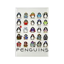 Lots of Penguins Rectangle Magnet