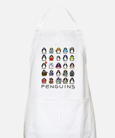 Lots of Penguins BBQ Apron