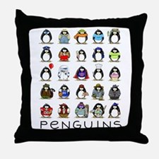 Lots of Penguins Throw Pillow