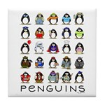 Lots of Penguins Tile Coaster