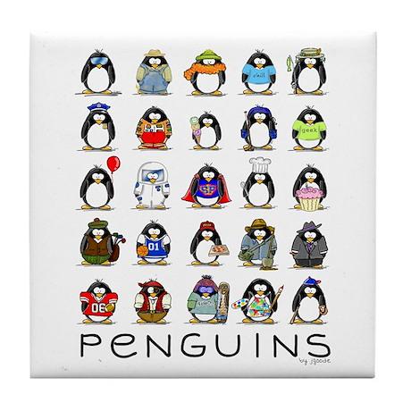 Lots of Penguins Tile Coaster