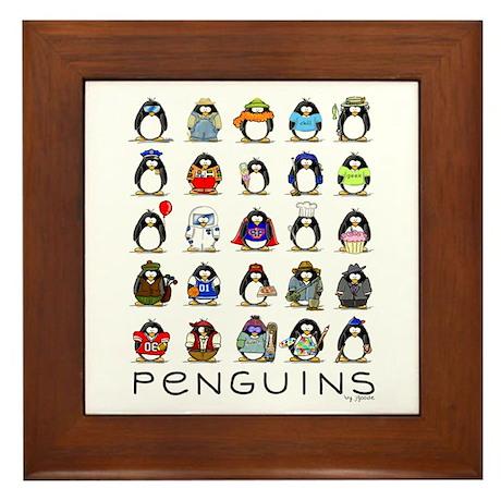 Lots of Penguins Framed Tile