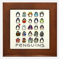 Lots of Penguins Framed Tile