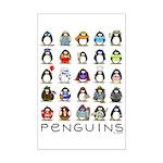 Lots of Penguins Mini Poster Print