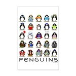 Lots of Penguins Mini Poster Print