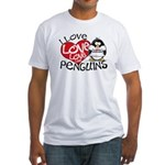 I Love Love Love Penguins Fitted T-Shirt