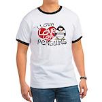 I Love Love Love Penguins Ringer T