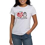 I Love Love Love Penguins Women's T-Shirt