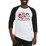I Love Love Love Penguins Baseball Jersey