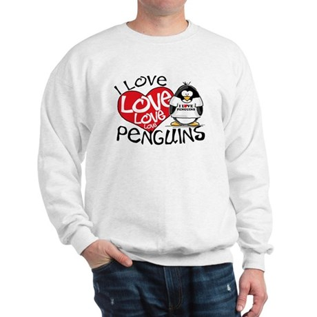 I Love Love Love Penguins Sweatshirt