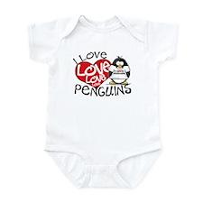 I Love Love Love Penguins Infant Bodysuit
