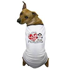 I Love Love Love Penguins Dog T-Shirt