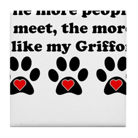 My Griffon Tile Coaster