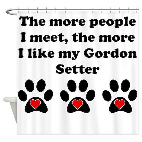 My Gordon Setter Shower Curtain