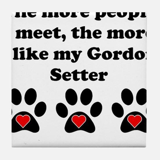 My Gordon Setter Tile Coaster