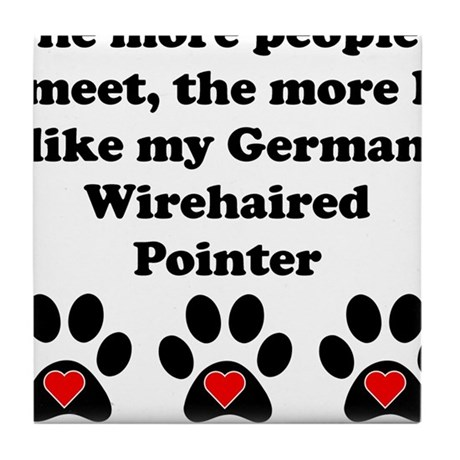 My German Wirehaired Pointer Tile Coaster