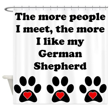 My German Shepherd Shower Curtain