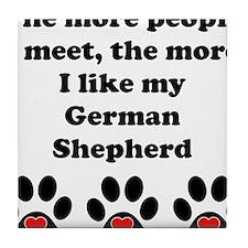 My German Shepherd Tile Coaster