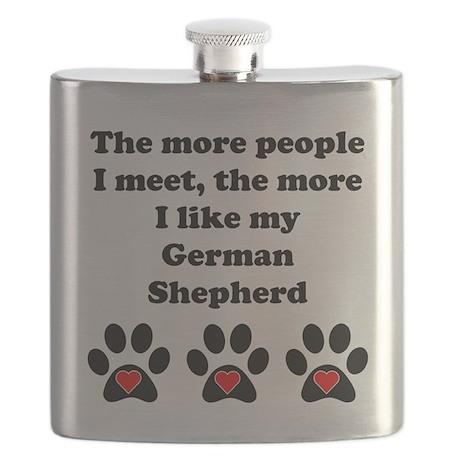 My German Shepherd Flask