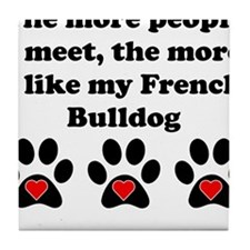 My French Bulldog Tile Coaster