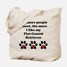 My Flat-Coated Retriever Tote Bag