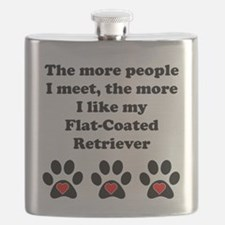 My Flat-Coated Retriever Flask