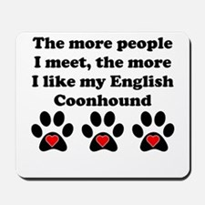 My English Coonhound Mousepad