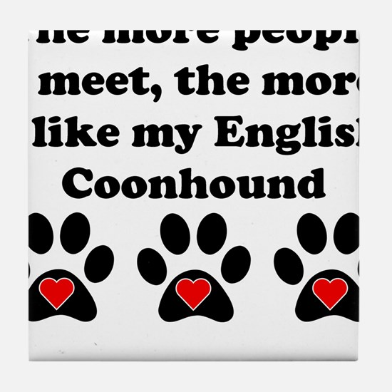 My English Coonhound Tile Coaster