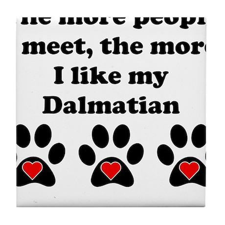 My Dalmatian Tile Coaster