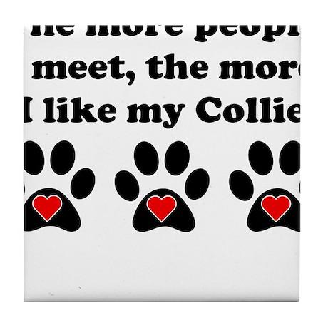 My Collie Tile Coaster
