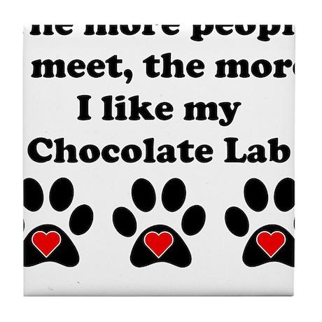 My Chocolate Lab Tile Coaster
