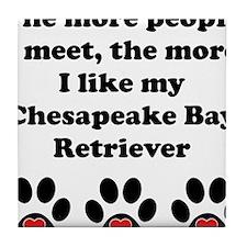My Chesapeake Bay Retriever Tile Coaster