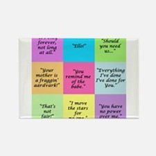 Labyrinth Quotes Rectangle Magnet